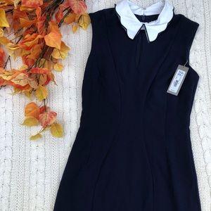 NY&C Navy Collared Dress